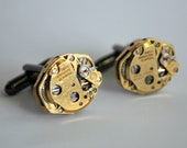 Steampunk Cufflinks - Steampunk for Men - Watch Movement Cufflinks - Groomsmen Gifts - ThePaintedEpoxy