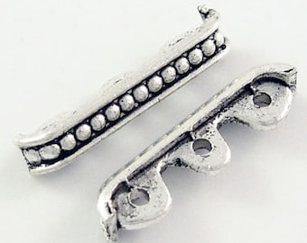 15 pcs Antique Silver Spacer Bars, with 3 Holes, 24x6x4mm, FREE SHIPPING to USA