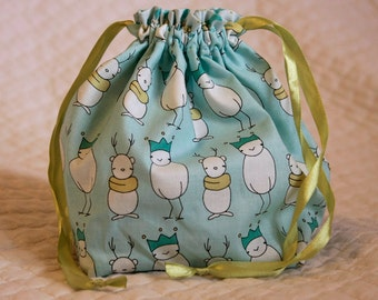 Knitting project bag- Christmas Pageant