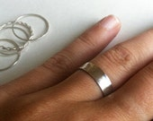 Thick Hammered Sterling Silver Stacking Band Ring - custom made to order