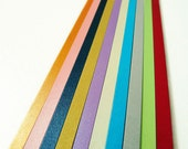 Glitter Rainbow Strips Origami Lucky Star Paper Strips DIY - Pack of 80 Strips