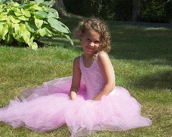 Pink Sequin Tutu Dress