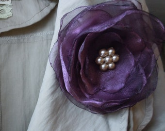 Plum Wedding Corsage for Brides, Bridesmaids, Mothers of the Bride, Proms, Evening, Special Occasions