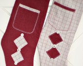 Memorial Christmas Stockings made from a shirt of your loved one