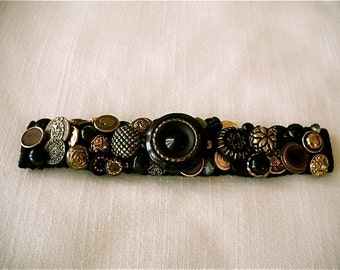 On Sale  Vintage Button Bracelet