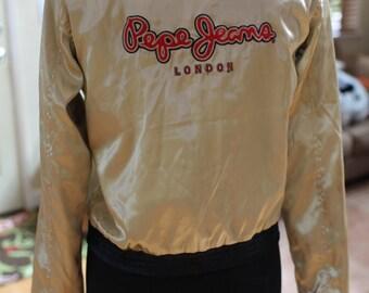 Women's Vintage Pepe Jeans Satin Reversible Jacket