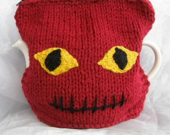 One of Victor Frankenstein's Tea Cosies - Red