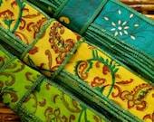 20 yards Silk Sari Ribbon, Silk Trim, 3 colors