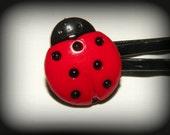 Ladybug bobby pins