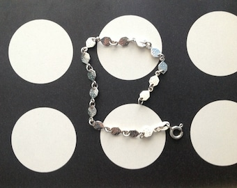 Sterling Silver Chain Bracelet with Die/Dice