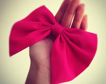 big blue bow unique hair bow s n 011 by colordrop on etsy