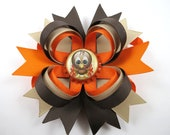 Turkey Hair Bows - Thanksgiving Hair Bow - Brown and Tan Hair Bow - Brown and Orange Hair Clip - Fall Hair Bow - Thanksgiving Hair Bows