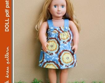 Payton Reversible Doll Dress - PDF Pattern - Doll Size 18 inch, PDF Downloadable, Easy Pattern
