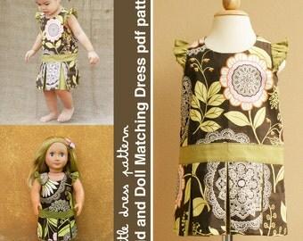 Morgan Kid and Doll Matching Dress - PDF Pattern, PDF Downloadable, Easy Pattern