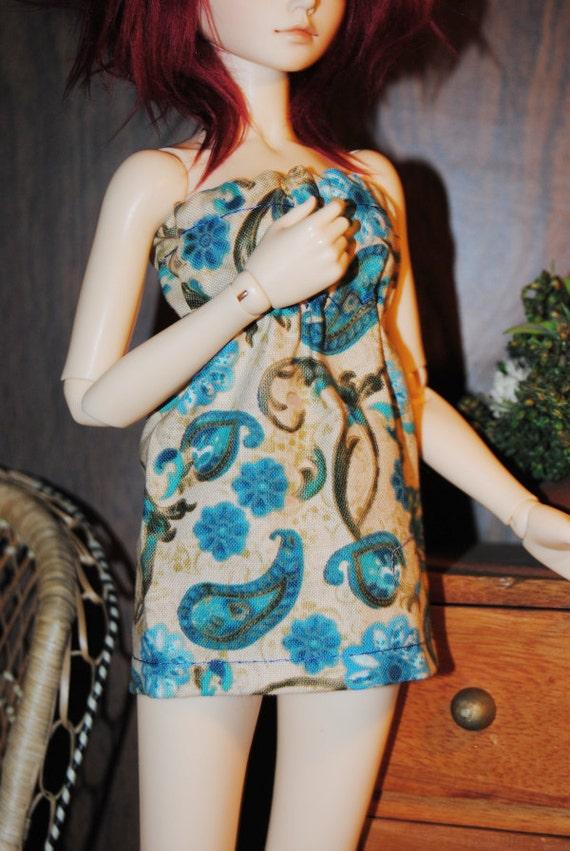 Slim Mini/MSD Slip-on Dress - Blue Paisley