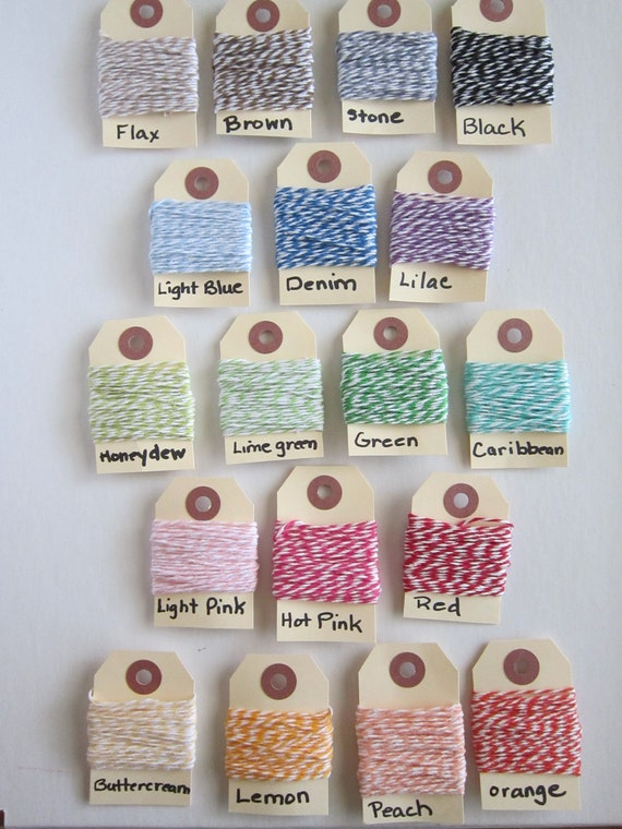 Choose 3 (15 yard Bundles) of 100% Cotton Bakers Twine for a total of 45 yards