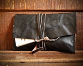 BRADY CRUMPLED calf leather tobacco pouch - hand made in Italy - Italian high quality leather