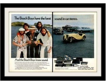 1977 BEACH BOYS & Craig Stereo Ad, Vintage Advertisement Print