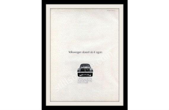 "1968 VOLKSWAGEN Bug Car Ad Print  ""Again"" Vintage VW Advertisement Print"