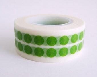 Washi Tape Printed Paper Tape Pretty Tape Green Polka Dots