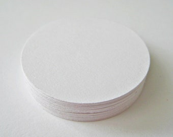 25 WHITE Circle Die cuts punches cardstock 1.5 inch -Scrapbook, cards, embellishment, confetti