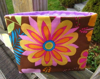 Reusable Snack Bag with Velcro Closure: Tropical Flower