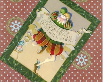 note card set christmas jester postcard rerpoduction