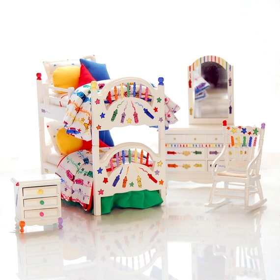 Dollhouse Bunk Bed Set