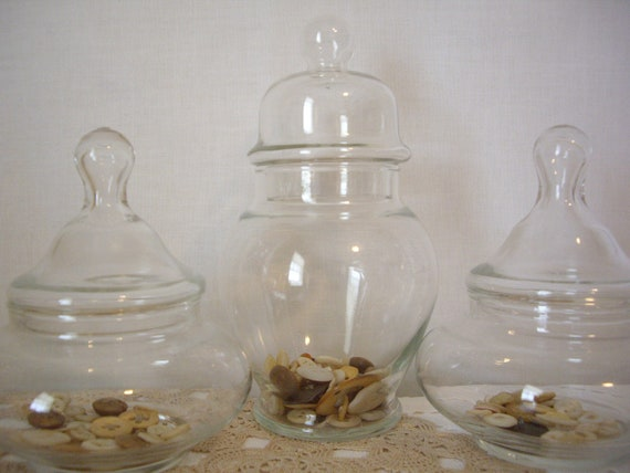 Vintage Glass Apothecary Jars