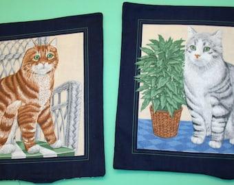 Set of 2 Cat Pillows  (Item # 1410)