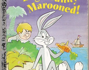 Bug's Bunny Marooned Vintage Little Golden Book Illustrated by Joe Messerli