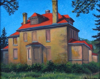 Officers' Quarters, Ft. Snelling - original painting