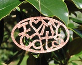 Custom Handmade Copper Christmas Ornament - Hammer Textured - 10% of proceeds donated to Animal Rescue Organizations - copperdogstudio