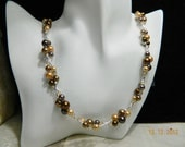 Multicolored Shell-pearl, Swarovski and Sterling Necklace