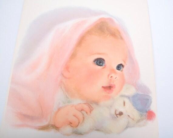 Vintage 1950s Northern Tissue Baby Nursery Prints Set Of 3