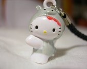 Hello Kitty Gray Pig Cell Phone Charm with Strap for FREE SHIPPING