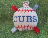Go CUBS Go   ----    BaseBall Baby Toy  ---  Are these Your Team Colors