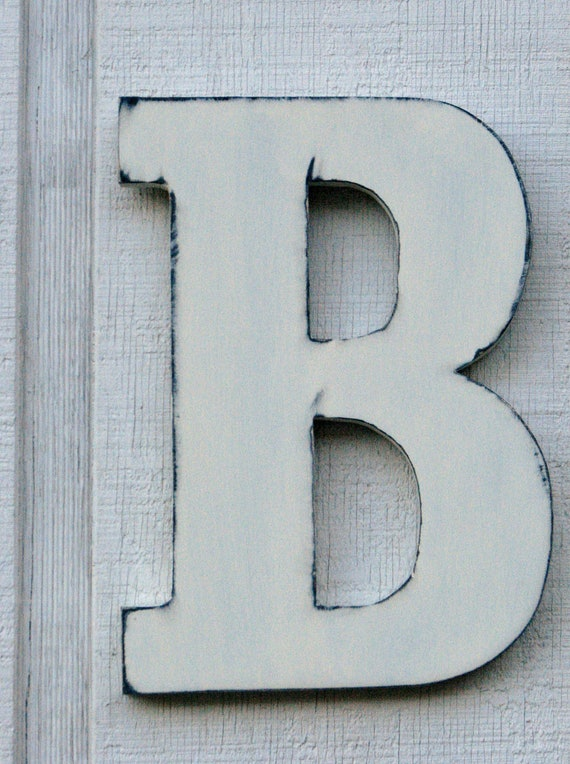 Guest Book Wooden Letters Rustic Letter B Home Decor