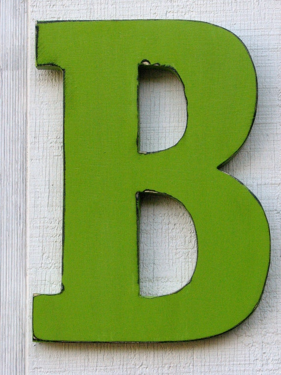 Guest book large wooden letters rustic letter b home decor for Big wooden letter b