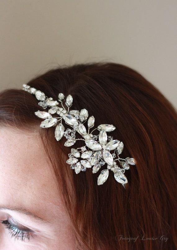wedding bridal side tiara, Lady Victoria medium sparkle tiara