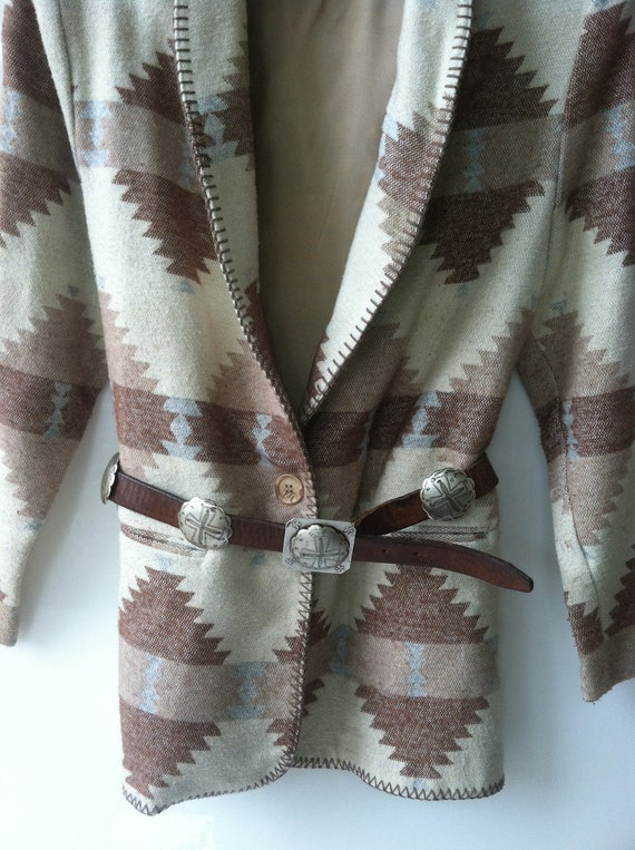 ALL COATS and boots 20% off sale, southwestern VINTAGE Jacket/Blazer By David Paul