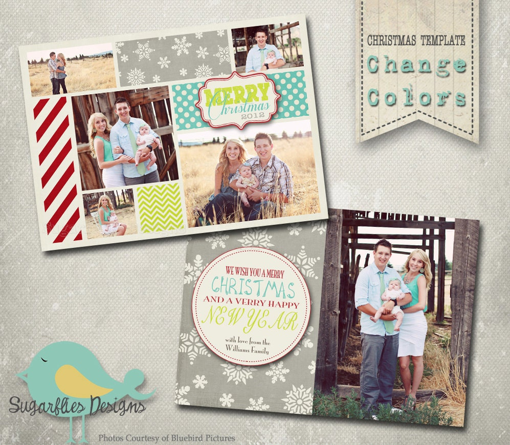 Christmas card template photoshop template family christmas for Photoshop holiday card templates