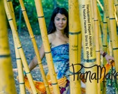 One-of-a-Kind Custom PranaMaker Scarf Wrap Art Dress with belt/scarf. Bamboo Xenati. Hand Painted by Natalia Hacerola.