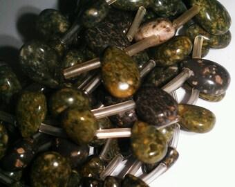 12 x 8 mm Green Ryolite Beads
