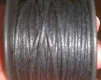 1.5 mm Black Waxed Linen Q