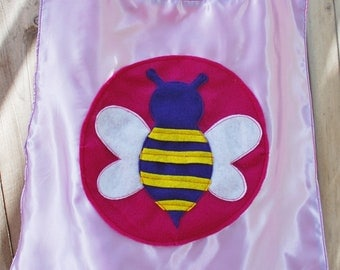 Girls Reversible Super Hero Cape
