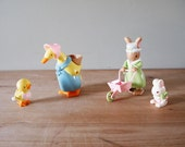 Vintage Duck & Rabbit Wind Up Toy