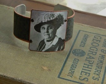 Jane Addams bracelet feminist jewelry mixed media jewelry