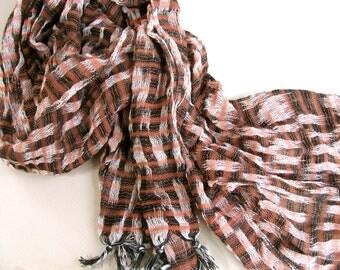 Vintage handwoven scarf/shawl