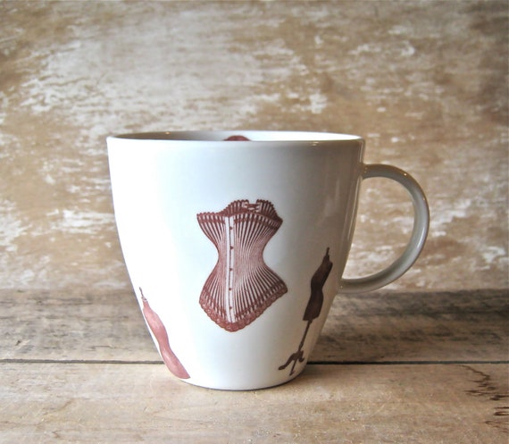 Mug with Steampunk Corsets Dressmaker Dummies Right or Left Handed